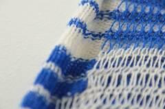 Detail blue & white stripe