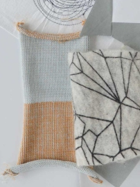 Plateer- double faced knit - printed mohair