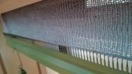 Breiwerk van gerecycled denim garen op de machnine